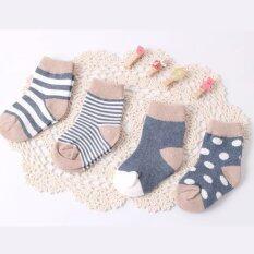 โปรโมชั่น Babymommylovely เซ็ตถุงเท้า สีน้ำเงิน คละลาย 4 คู่ 12 เดือน ถูก