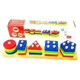 ซื้อ Todds Kids Toys ของเล่นไม้ สวมหลักรูปทรงเรขาคณิต Unbranded Generic เป็นต้นฉบับ