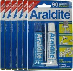 ความคิดเห็น Tools Araldite กาวอีพ็อกซี่ รุ่น Rapid Steel แบบแพ็คผสม 2 หลอด สีฟ้า ใส แห้งช้า 90 นาที 6 แพ็ค