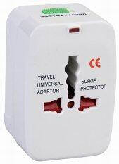 Universal Plug Travel Adapter หัวปลั๊ก เอนกประสงค์ สำหรับเดินทางต่างประเทศ แถมฟรี ถุงผ้าใส่ปลั๊ก