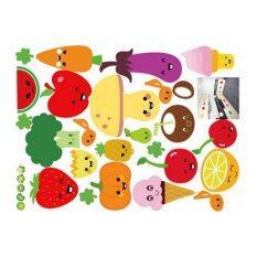 ราคา สติ๊กเกอร์ติดผนังMix Fruits And Vegetablesกว้าง60Cm Xสูง60Cmรุ่นTransparent Wall Sticker ใหม่