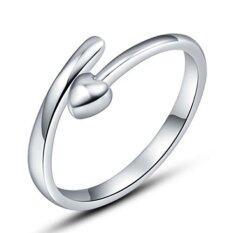 ขาย ซื้อ Okdeals แฟชั่นผู้หญิงเลดี้นิ้วเปิดแหวนเงิน ใน จีน