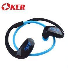ราคา Oker Bt 152 หูฟังไร้สายบลูทูธ Headphone Bluetooth Blue เป็นต้นฉบับ Oker