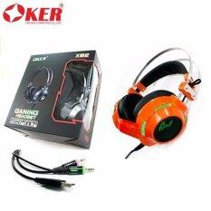 ซื้อ Oker Ganing Headset หูฟังเกมมิ่ง รุ่น X92 สีส้ม Oker ถูก