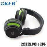 ราคา Oker Headphones Bluetooth 3 Sm 896 Black Green ถูก