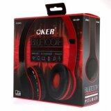ซื้อ Oker Headphones Bluetooth Sm 889 Black Red ใหม่