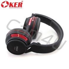 ทบทวน ที่สุด Oker Headphones Bluetooth Sm 896 Black Red