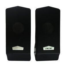โปรโมชั่น Oker ลำโพงคอมพิวเตอร์ โน๊ตบุ๊ค Speakers รุ่น M6 Black