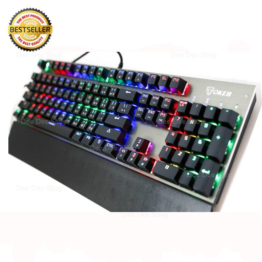 OKER Magic RGB Mechanical Keyboard Blue Outemu Switch รุ่น K95 (สีดำ)