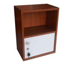 โปรโมชั่น Ome Kiti Shop ตู้ล็อคเกอร์ ตู้ข้างเตียง 2 ชั้น รุ่น Box 2 สีขาว ลายไม้สัก