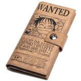 ราคา One Piece Monkey D Luffy Bi Fold Large Brown Wallet Unbranded Generic เป็นต้นฉบับ
