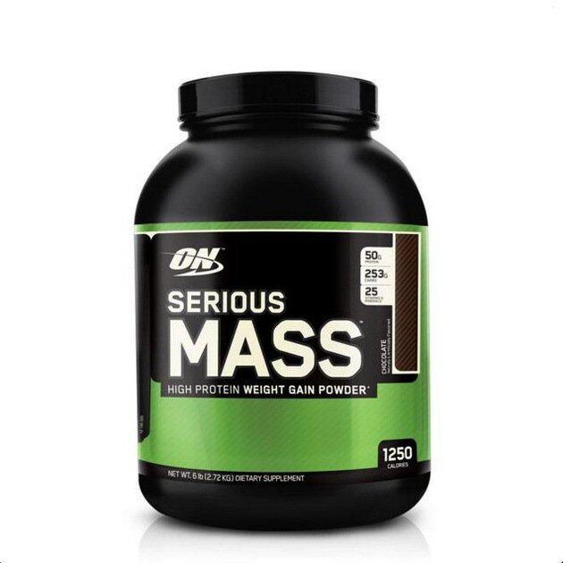 Optimum Serious Mass(Weight Gainer) 6Lbs - Chocolate* 1 กระปุก (เวย์เพิ่มน้ำหนัก)