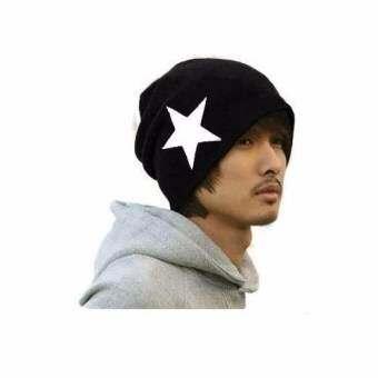 Osaka หมวกผ้าไหมพรม รูปดาว ชาย-หญิง  รุ่น NH200 (สีดำ)