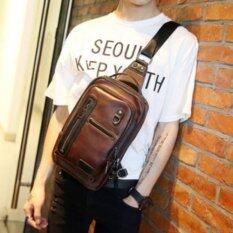 ราคา Osaka กระเป๋าคาดอก สะพายไหล่ หนัง รุ่น Ne215 สีกาแฟ ไทย