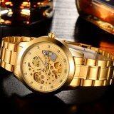 ขาย Weiguan Otzi 8425 นาฬิกาข้อมือผู้ชาย ระบบกลไกแบบออโตเมติก โชว์กลไก สายสแตนเลส สไตส์คลาสสิก เรือนสีทอง ผู้ค้าส่ง