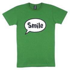 ขาย Over The Sky T Shirt กราฟฟิค เสื้อยืดคอกลม รอยยิ้ม แฟนซี Smile สีเขียวไมโล Over The Sky ใน ไทย