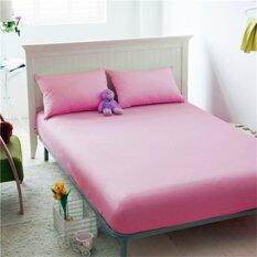 ขาย P Cotton ผ้าปูที่นอน 5ฟุต สีชมพู ราคาถูกที่สุด
