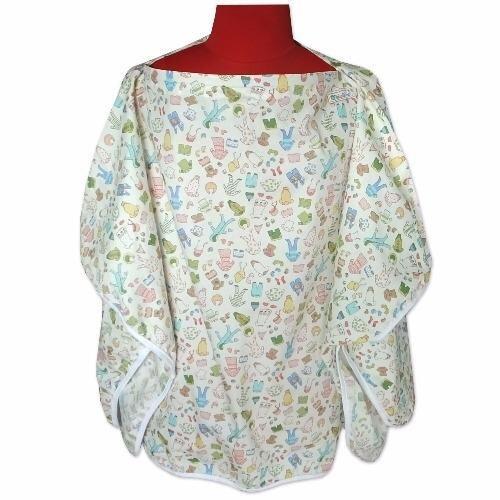 ซื้อที่ไหน PalmandPond เสื้อคลุมให้นม เต็มตัว มีโครง (ลายเสื้อผ้า-สีขาว)