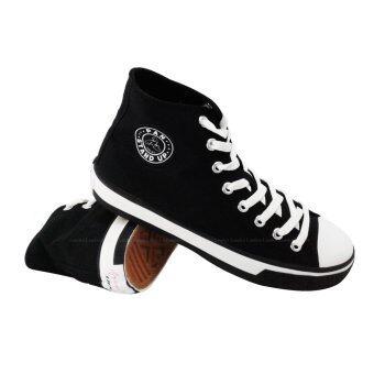 PAN รองเท้า ผ้าใบ หุ้มข้อ แพน Canvas Shoe PF3375 AA (890) สีดำ