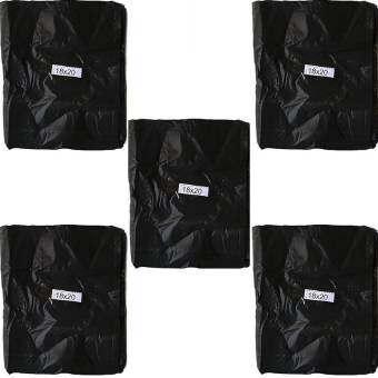 papamami Black Garbage bag ถุงขยะ ถุงใส่ขยะ ขนาด 18นิ้วx20นิ้ว บรรจุ 5 ก.ก - สีดำ-