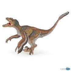 Papo Ppo55055 โมเดลไดโนเสาร์ Feathered Velociraptor เป็นต้นฉบับ