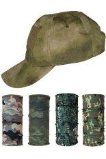 ขาย Parbuf หมวกทหาร ผ้าบัฟ ป้องกัน Uv ลายทหาร 4 ผืน Camo Green Cap Set ราคาถูกที่สุด