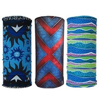 Parbuf ผ้าอเนกประสงค์ ป้องกัน UV ผ้าโพกหัว ผ้าพันคอ 3 ผืน Set 74