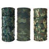 ซื้อ Parbuf ผ้าอเนกประสงค์ ป้องกัน Uv Set Camo 3 ผืน Set 2 ลายทหาร สีเขียว ถูก ใน Thailand