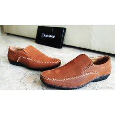 ราคา ราคาถูกที่สุด Pbshoe รองเท้าหนังแฟชั่นผู้ชาย Pb167 Tan