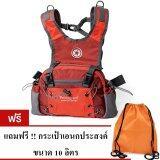 โปรโมชั่น Pentagram กระเป๋าเอี๊ยมคาดเอว สะพายหลัง รุ่น975 6L สีแดง แถมฟรี กระเป๋าผ้าเอนกประสงค์ ขนาด 10 ลิตร ถูก
