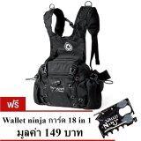 ทบทวน Pentagram กระเป๋าคาดเอว สะพายหลัง รุ่น975 6L สีดำ