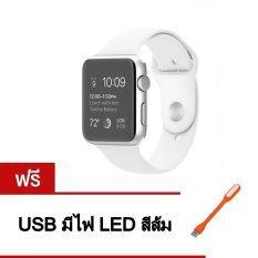 ซื้อ Person นาฬิกาโทรศัพท์ Bluetooth Smart Watch รุ่น A8 Phone Watch White ฟรี Usb มีไฟ Led คละสี ถูก ใน กรุงเทพมหานคร