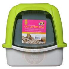 ราคา ราคาถูกที่สุด Pet8 Cat Litter House Sport Greenห้องน้ำแมว ขนาด 38 49 42 ซม สีเขียว1 ชุด