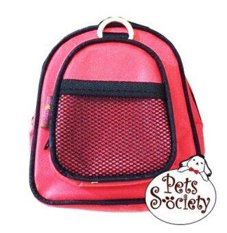 PetSociety เป้สุนัข เป้แมว กระเป๋าเป้สำหรับสัตว์เลี้ยง (น้องหมา น้องแมว) – สีแดง
