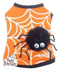 Petsociety เสื้อสุนัข เสื้อแมว เสื้้อลายแมงมุม - สีส้ม By Petsociety.