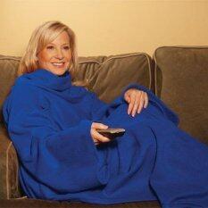 ราคา ผ้าห่มสวมติดตัวผ้านุ่มพิเศษ สีน้ำเงิน Snuggle Blanket Blue ออนไลน์