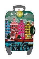 ขาย ซื้อ Mori ผ้าคลุมกระเป๋าเดินทาง ผ้ายืด Luggage Cover Suitcase Cover Spandex ลาย Amsterdam Size L สำหรับกระเป๋าเดินทางไซส์ 27 30 นิ้ว ใน กรุงเทพมหานคร