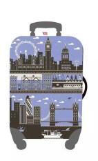 ทบทวน ที่สุด Mori ผ้าคลุมกระเป๋าเดินทาง ผ้ายืด Luggage Cover Suitcase Cover Spandex ลาย Scenic London Size L สำหรับกระเป๋าเดินทางไซส์ 27 30 นิ้ว