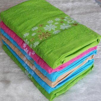 ผ้าขนหนู ผ้าเช็ดตัว ผ้ารับไหว้ ผ้านาโน ขนาด30นิ้วx60นิ้ว(จำนวน12ผืน) O-970