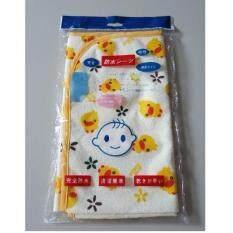 ผ้ารองกันเปื้อน รูปเป็ด (สีเหลือง) ขนาดใหญ่ 60x70cm By Hunhun Shop.