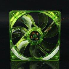 พัดลมระบายความร้อน Fan Case พัดลม12CM สีเขียวมีไฟ
