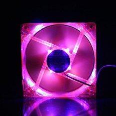 พัดลมระบายความร้อน12 cm - สีชมพูมีไฟ