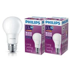 ราคา Philips หลอด Led Bulb 13 วัตต์ ขั้ว E27 แสงวอร์มไวท์ 2 ดวง เป็นต้นฉบับ