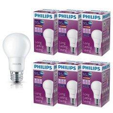 ทบทวน Philips หลอด Led Bulb 9 5 วัตต์ ขั่ว E27 แสงวอร์ไวท์ 6 ดวง