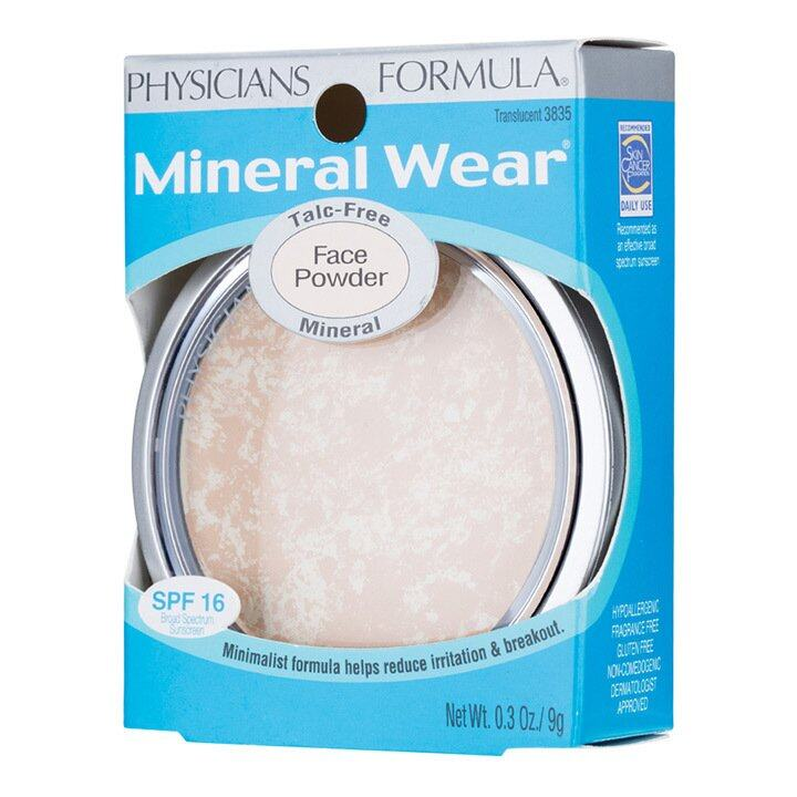 Physicians Formula Mineral Wear Talc-Free Face Powder SPF16 (Translucent 3835)