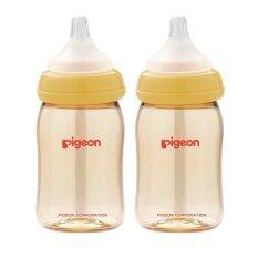 ขาย Pigeon ขวดนม Ppsu พร้อมจุกนมเสมือนนมมารดารุ่นพลัส ไซส์ Ss รุ่น Pg0056801 ขวดสีชา 160Ml ฝาสีเหลือง 2 ขวด Pigeon ออนไลน์