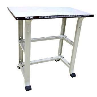 PINN โต๊ะวางจักรเย็บผ้า โต๊ะสำหรับวางจักรเย็บผ้าไฟฟ้า จักรปัก จักรขนาดเล็ก แข็งแรง ทนทาน ขอบโต๊ะมีสกรีนสายวัดเพื่อสะดวกในการใช้งาน