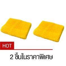 ราคา ปลอกรัดข้อมือซับเหงื่อ สำหรับออกกำลังกาย สีเหลือง Yellow X2 ใหม่ล่าสุด