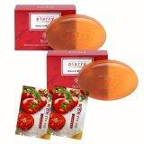 ราคา Plarry Platinum Soap Detox Whitening 100G Collagen Chitosan Tea Tree Oil Epo 2 Pcs Tomato Mask 2 Pcs ใหม่ล่าสุด
