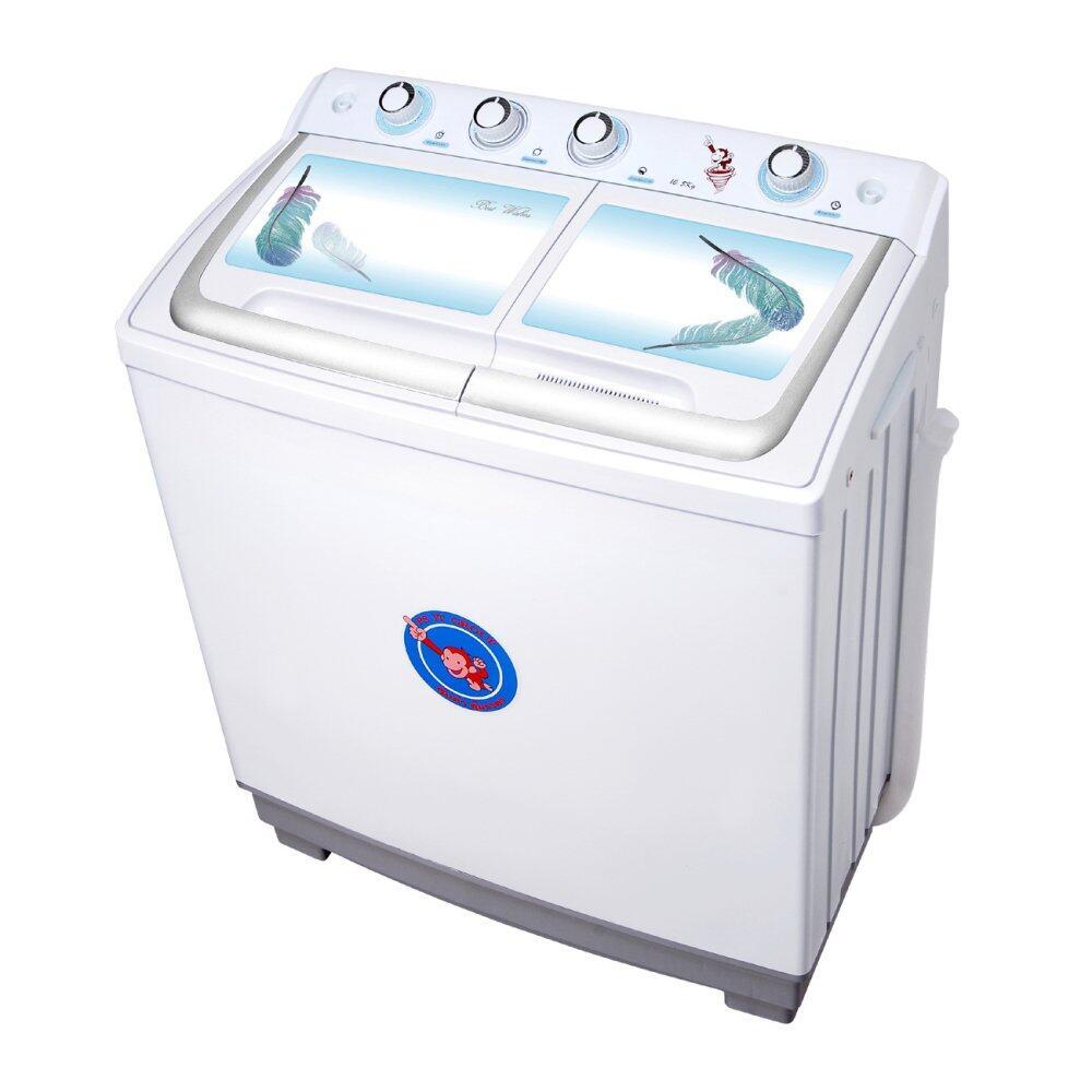 ลดราคาต่ำสุดฉลองยอดขาย เครื่องซักผ้า Sharp ลด -20% SHARP เครื่องซักผ้า 2 ถัง ฝาบน 8 KG. รุ่น ES-TW80BL มีของแถม